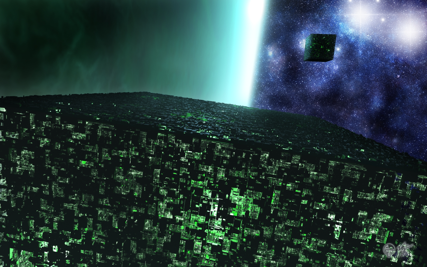 Space Cube By Darthhell On Deviantart