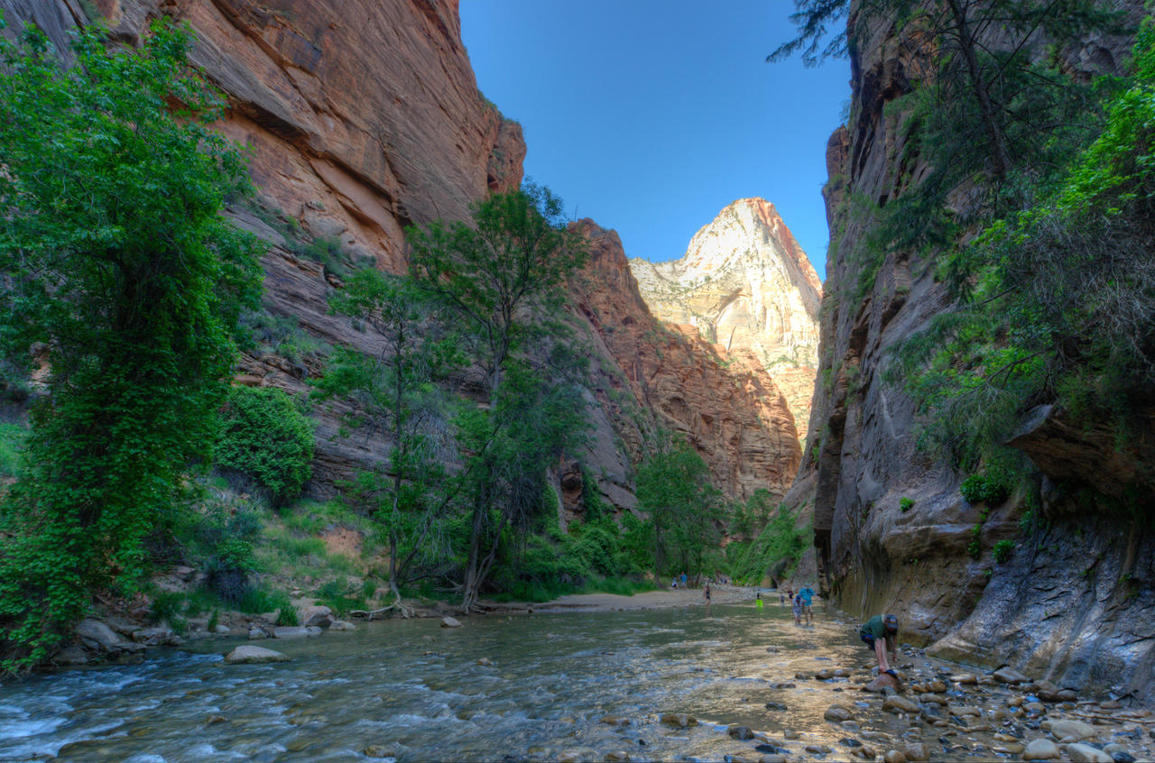 Zion - Entrance to the Narrows by the3dman