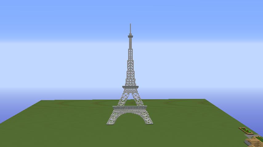 Скачать Эйфелева Башня карта для Minecraft бесплатно
