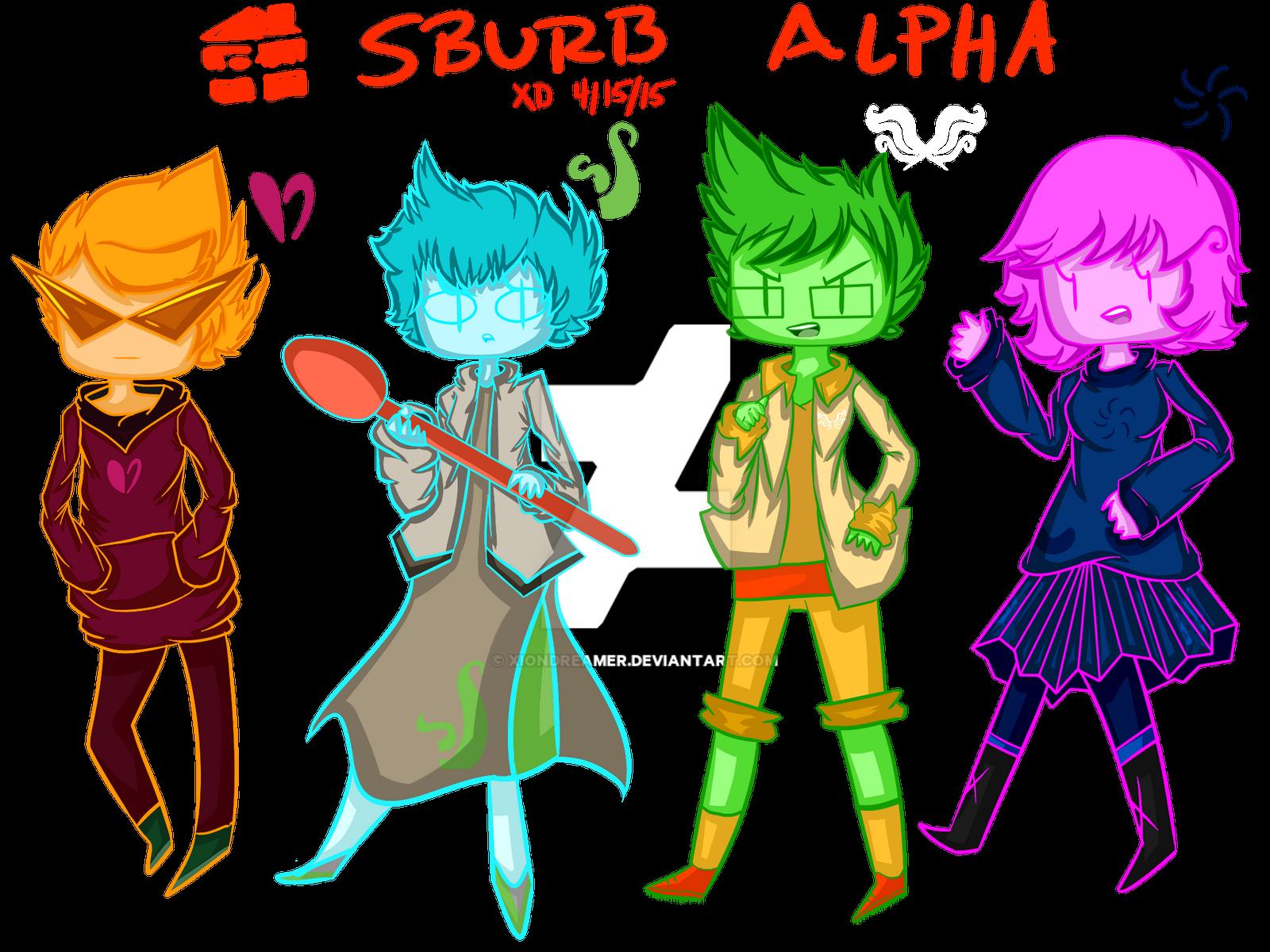 Homestuck Sburb Alpha Kids Fanart By Xiondreamer On Deviantart