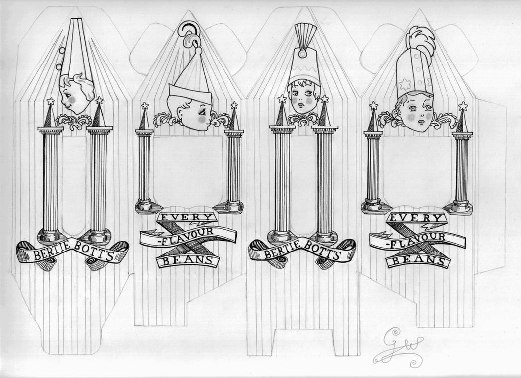Bertie Botts Beans Linework By Gwendolynwolters On Deviantart