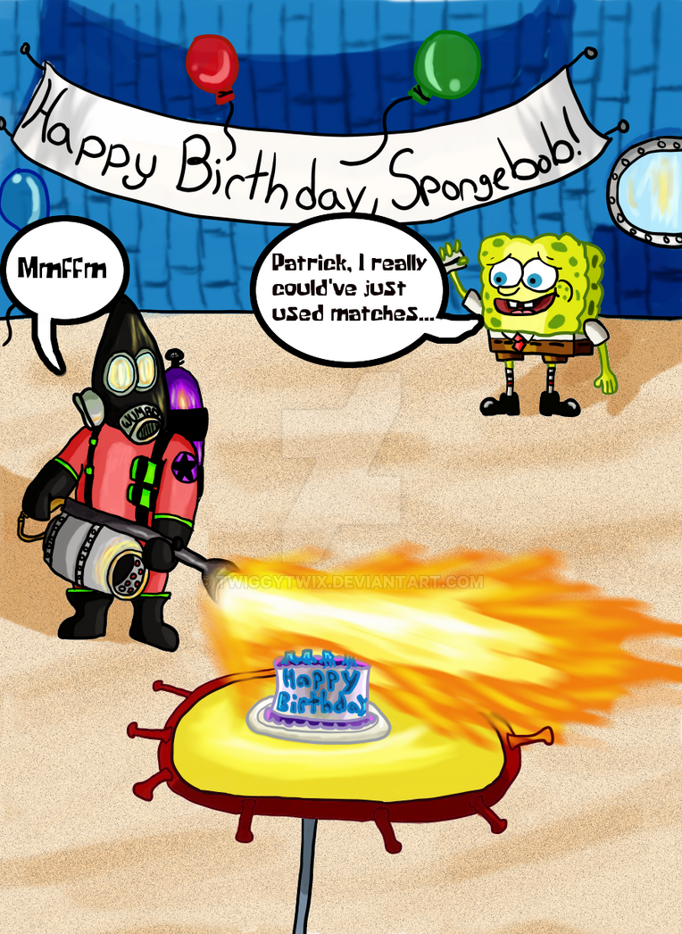 Happy Birthday, Spongebob! by TwiggyTwix