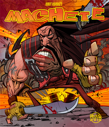 Machete in yer face!