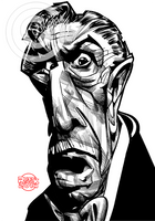 Vincent Price Sketch by RussCook
