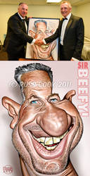 Ian Botham Auctioned Caricature by RussCook