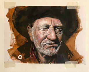 Willie Nelson portrait by RussCook