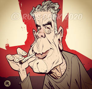 Anthony Bourdain Caricature