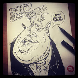 Boris Johnson caricature