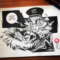 Willem Dafoe Caricature