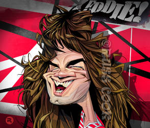 Eddie Van Halen caricature