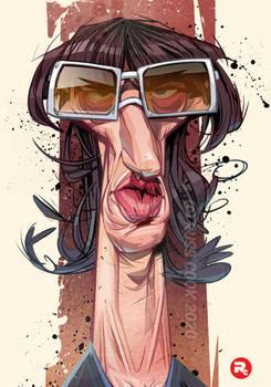 Richard Ashcroft caricature