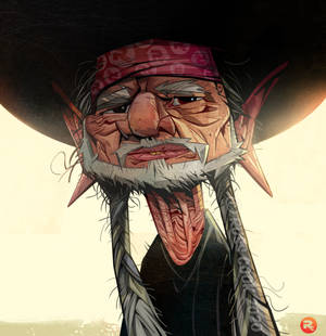 Willie Nelson caricature