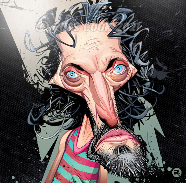 Vincent Gallo Caricature