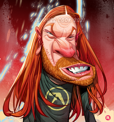 Aphex Twin caricature