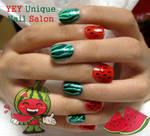 water melon nail