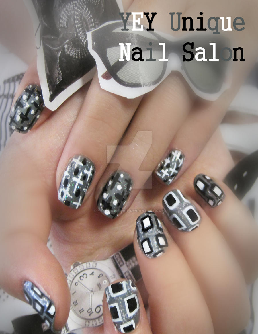 fashion magazine nail by YEYUniqueNail
