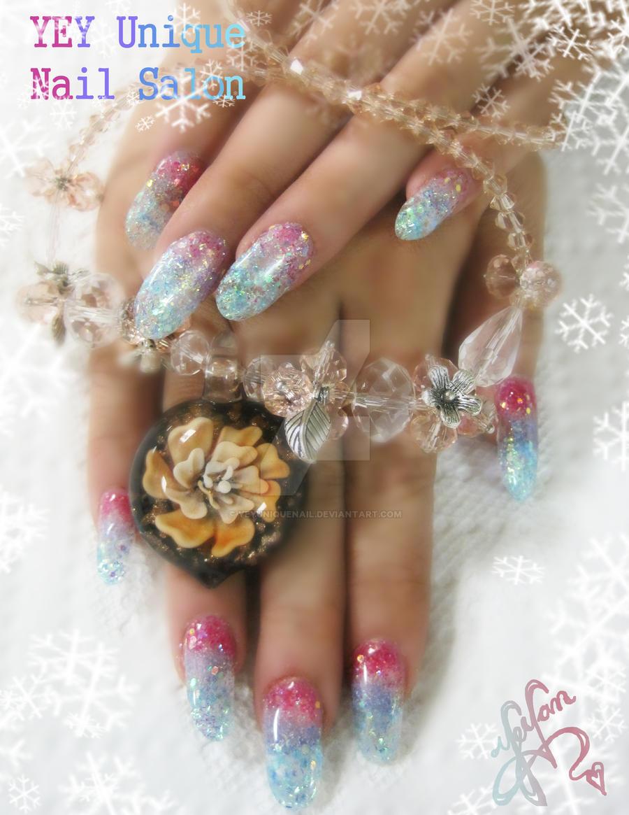crystal nail by YEYUniqueNail