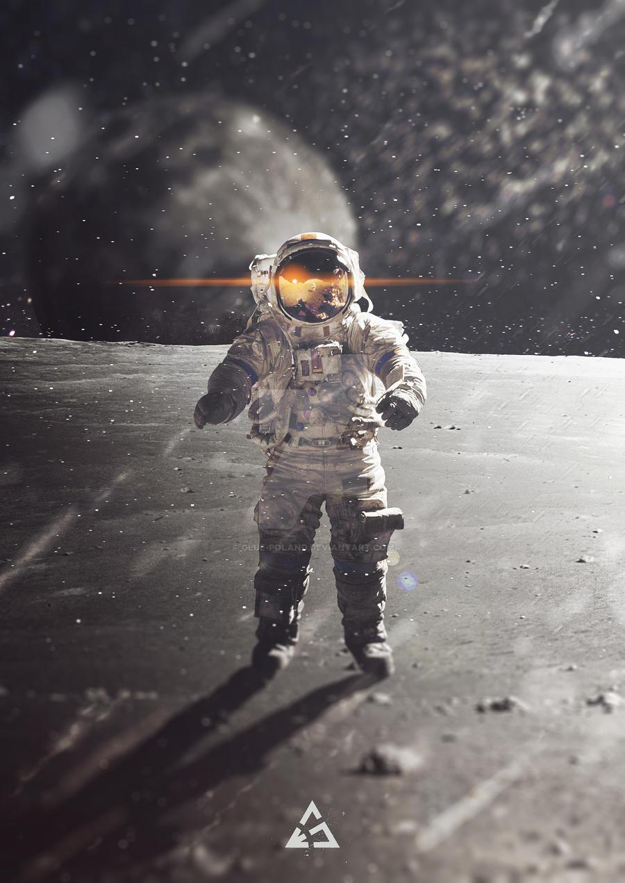 Man on the Moon by glue-poland
