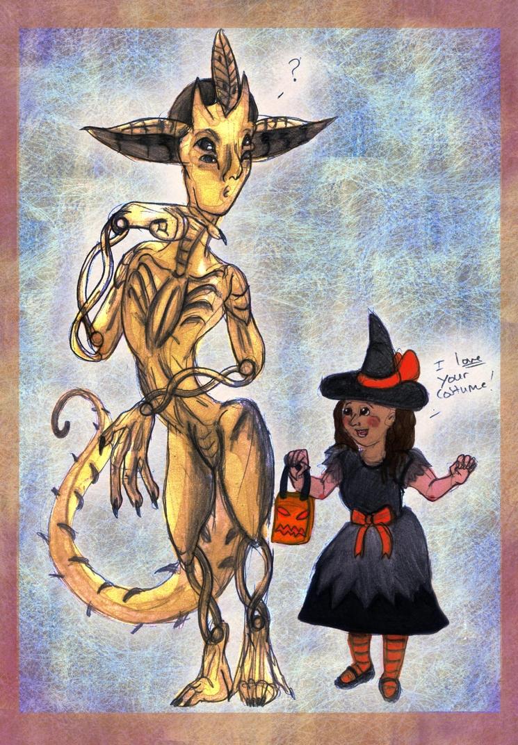 ALIEN Halloween Art Exchange for drawmeadream by acidshadow