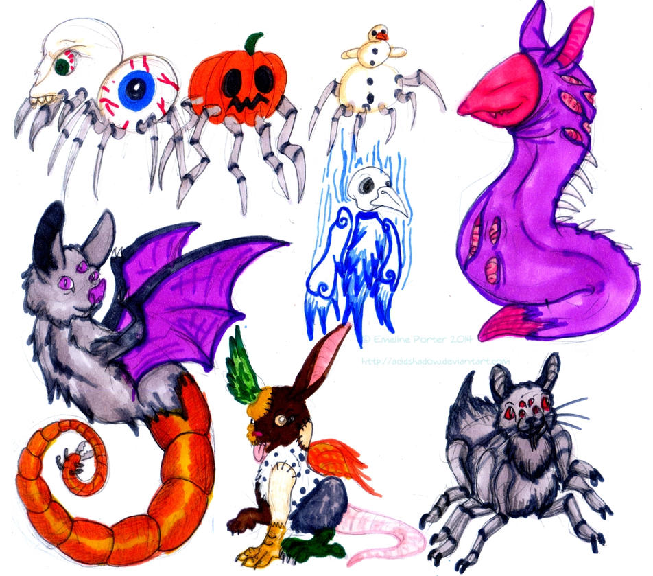 Halloween Creatures by acidshadow