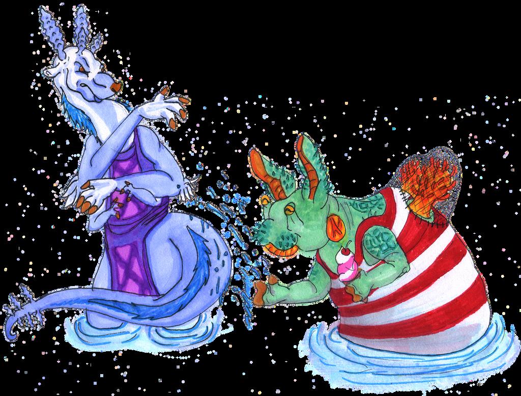 Splish splash! ALIEN Summer Collaboration by acidshadow