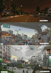 City environment studies by NotMuchNormal