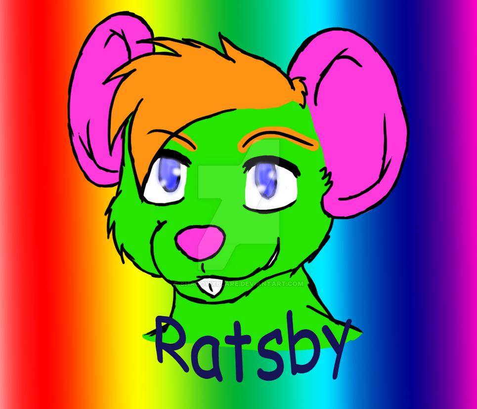 (HUGE) Ratsby Rainbow Headshot badge by ShadowXBlare