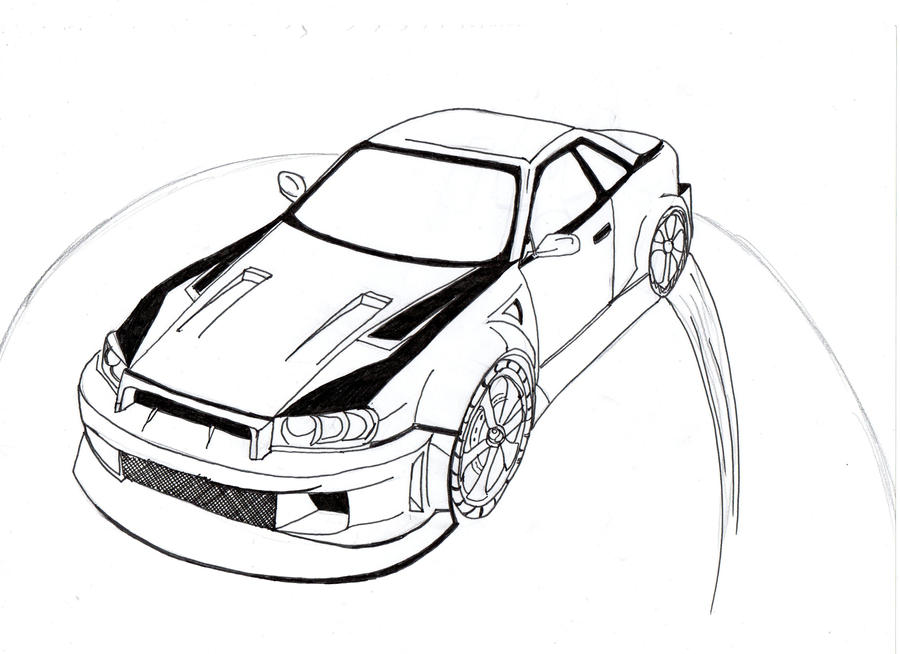 Drift Car Coloring Pages
