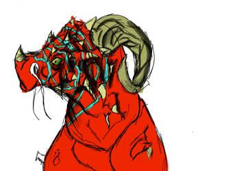 Stripey Dragon Thingy. by SaitamaTale