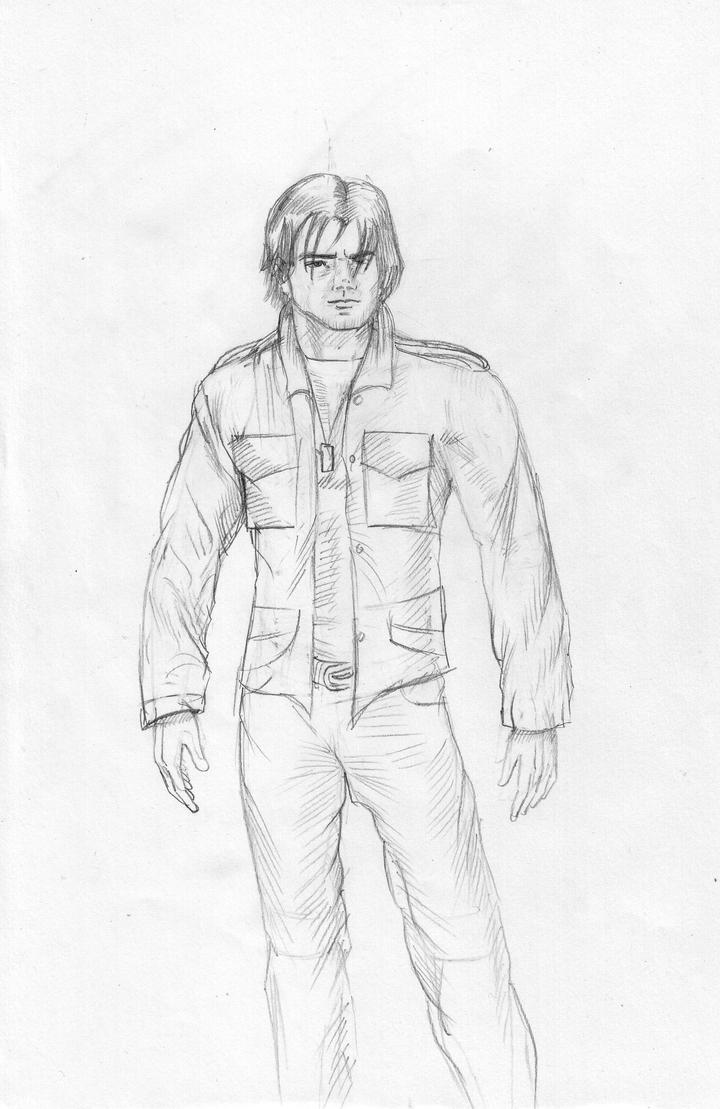 Sketch main character by gamerfan2000
