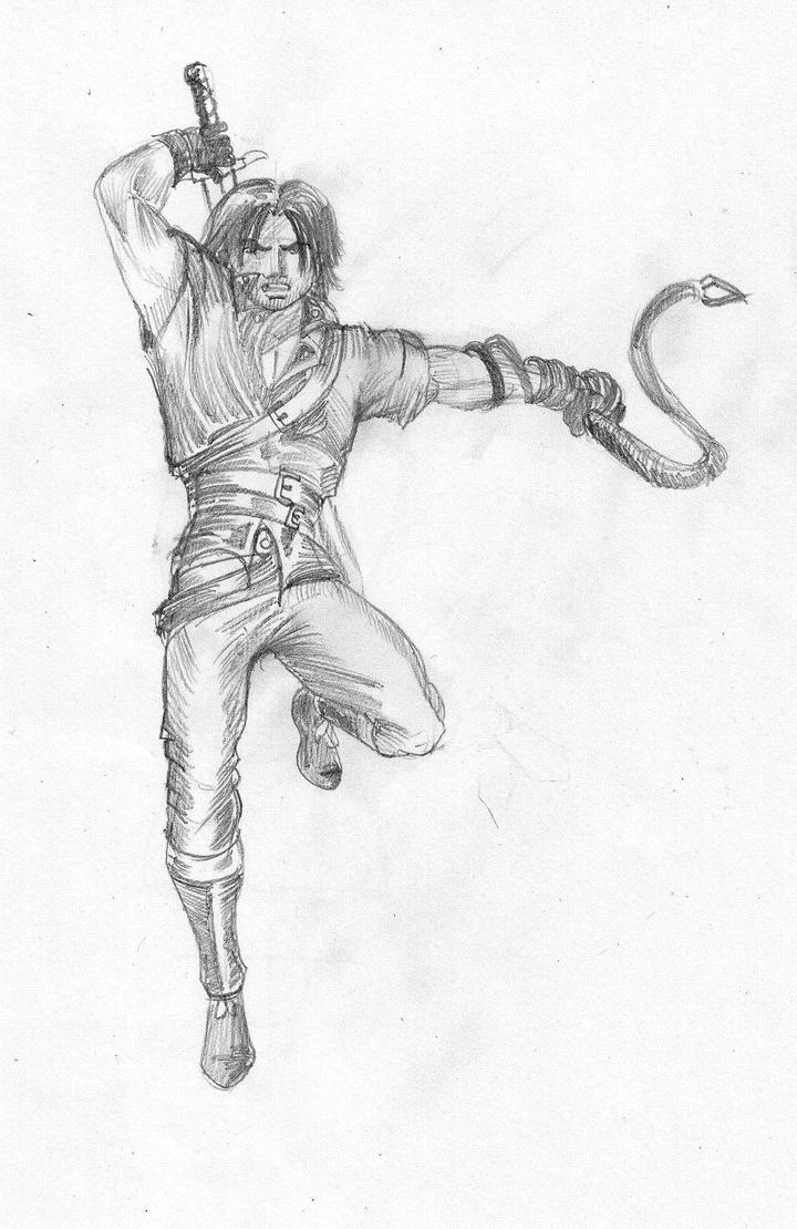 main character sketch by gamerfan2000