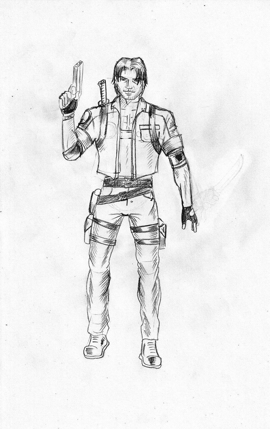 Main character standing by gamerfan2000