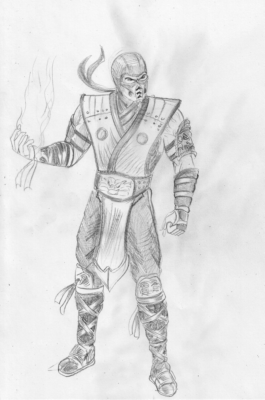 Mortal Kombat Sub Zero - Free Coloring Pages