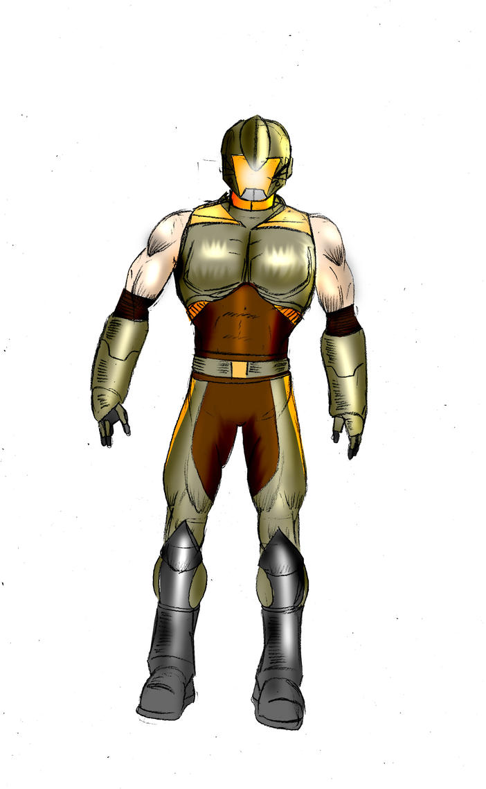 Sci Fi warrior collored by gamerfan2000