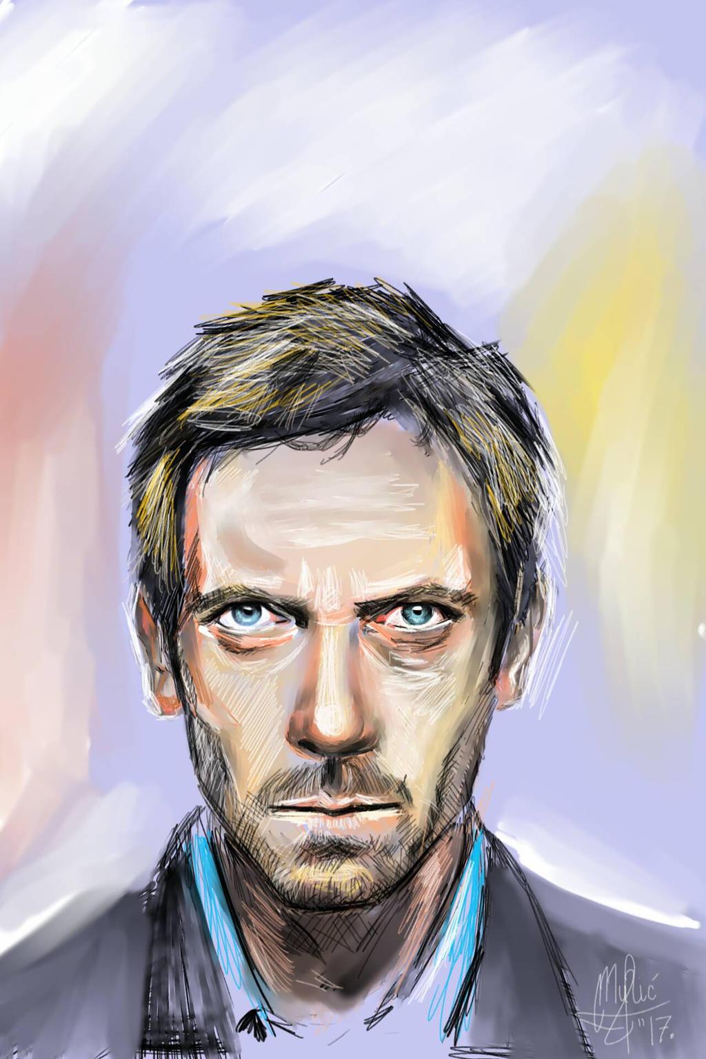 Hugh Laurie portrait by gamerfan2000