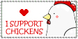 I Support Chickens Stamp by Telucea