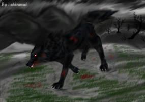 Black wolf by shiranui14