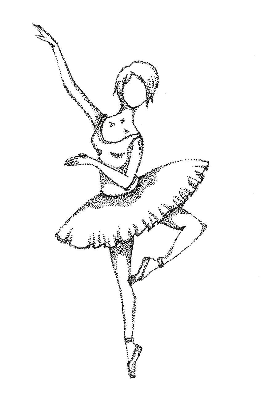 Disegni Da Colorare Di Ballerine Classiche In Bianco E Nero