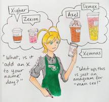 Working at Starbucks (KH)