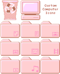 Dusty Rose Computer icons