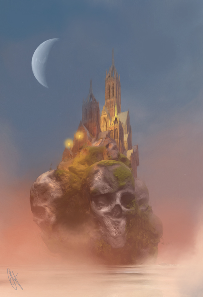 skull rock castle by leloops