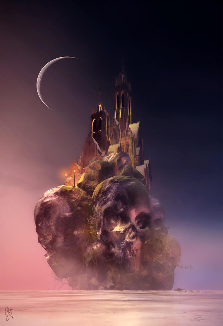 skull rock castle by leloops
