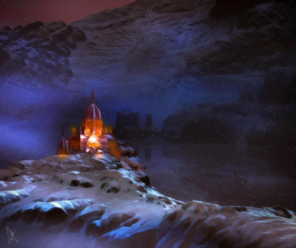 winter landscape by leloops