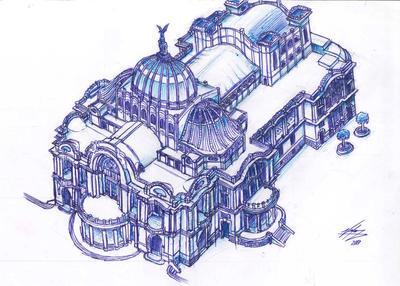 Palacio de Bellas Artes by NixnVico