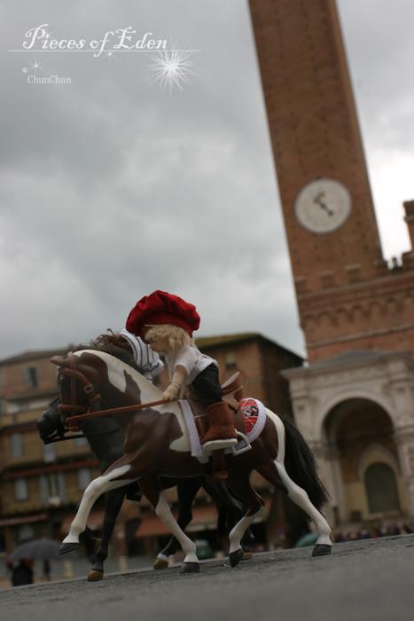 EzioLeo - Riding the Palio by PiecesOfEden