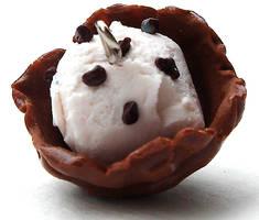 chocolate chip waffle bowl by MotherMayIjewelry
