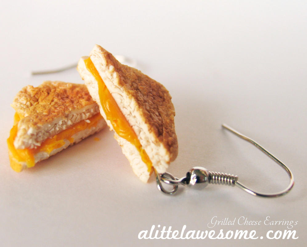 Food Jewelry Grilled Cheese Earrings! by MotherMayIjewelry