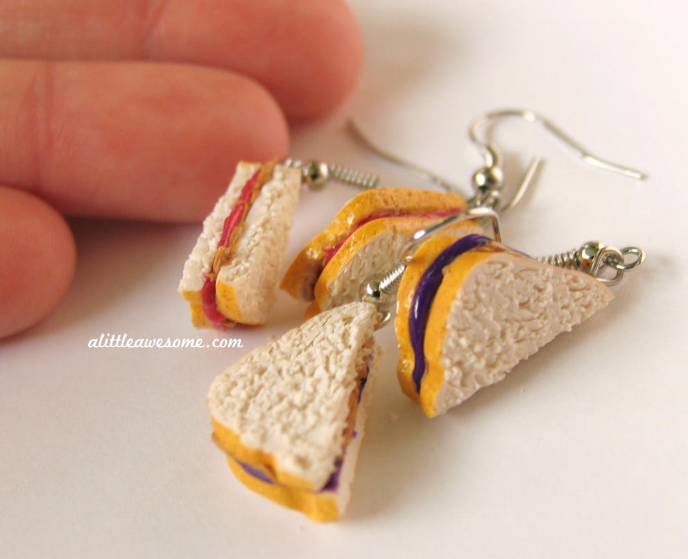 PBJ Earrings by MotherMayIjewelry