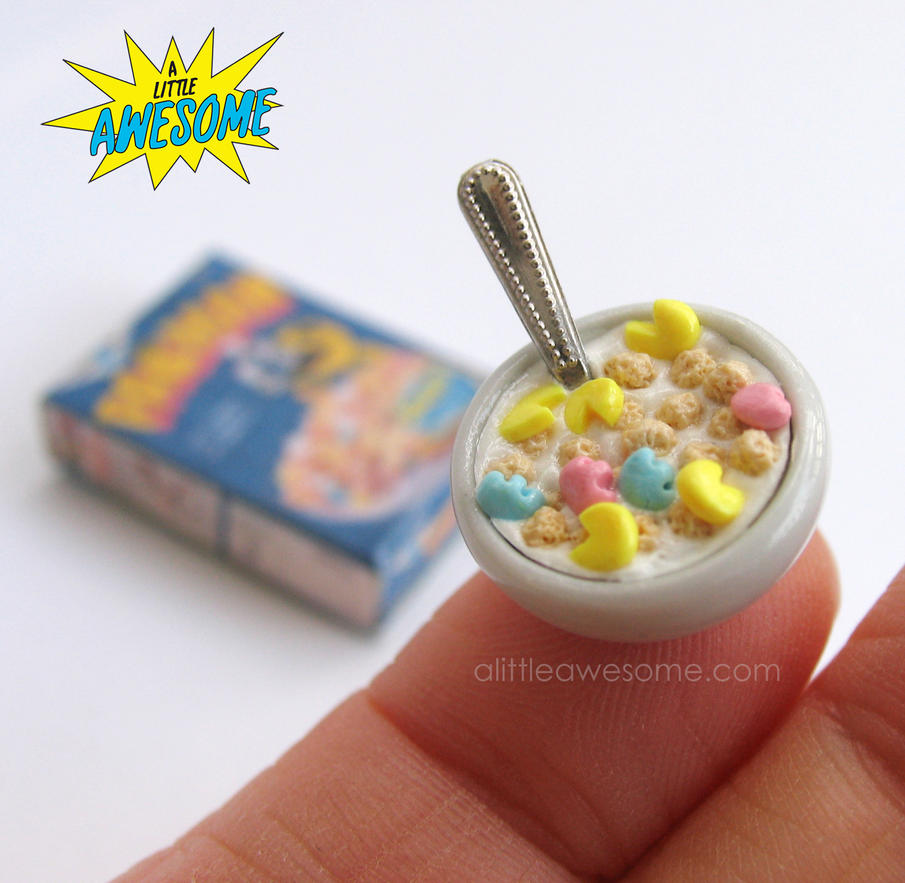 Pac Man Cereal in Miniature by MotherMayIjewelry