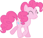 Pinkie pie walking no ground vector